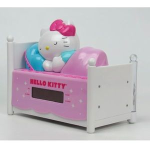 Hello kitty night light alarm clock sleeping bed